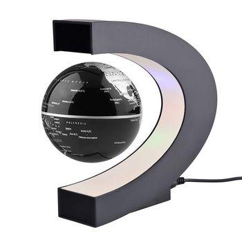 Decoración Para el hogar Led flotante tellurion Globos terráqueos forma magnética levitación luz mundo Mapas tellurion negro Reino Unido plag # Lo