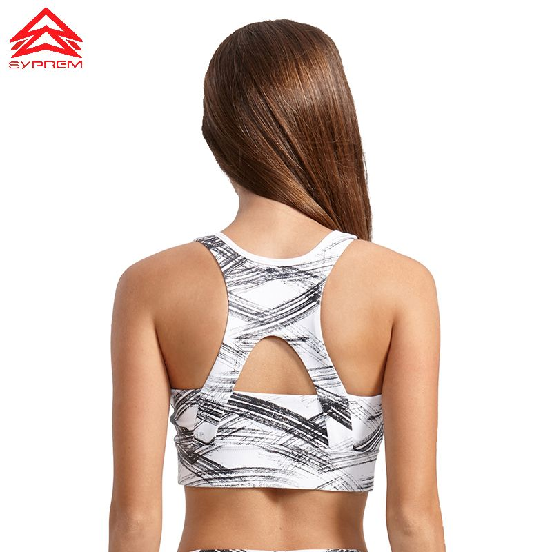 SYPREM Sports Bra 2017 Fitness Bronzing pattern Sports bra top Shockproof Shapes Quick dry Run top Yoga bra sports top,1FT0022