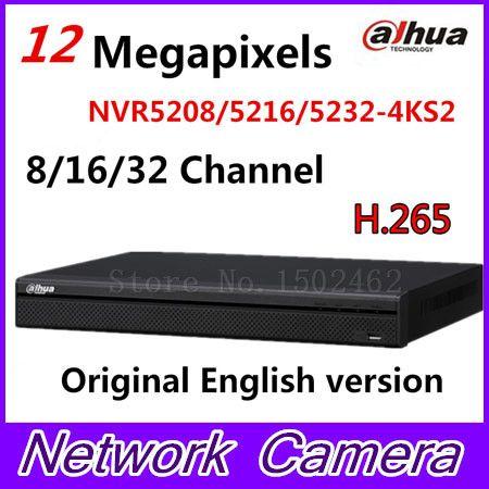 DaHua 4K Video Surveillance NVR NVR5208-4KS2 NVR5216-4KS2 NVR5232-4KS2 8/16/32 Channels H.265