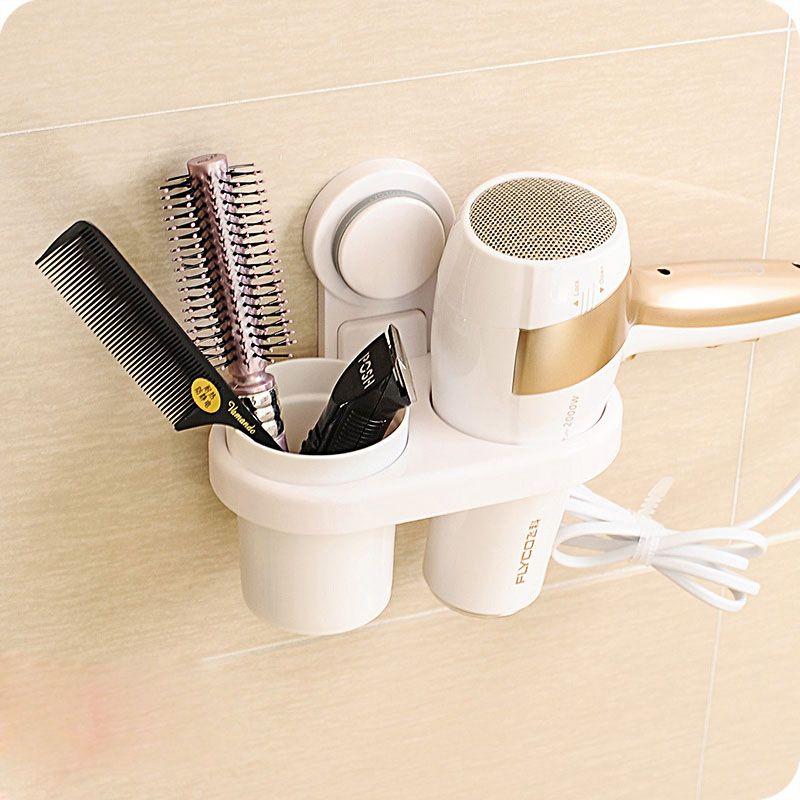Vanzlife высокой мощностью всасывания для ванной фен стойки, тип гребень фен стеллаж для хранения