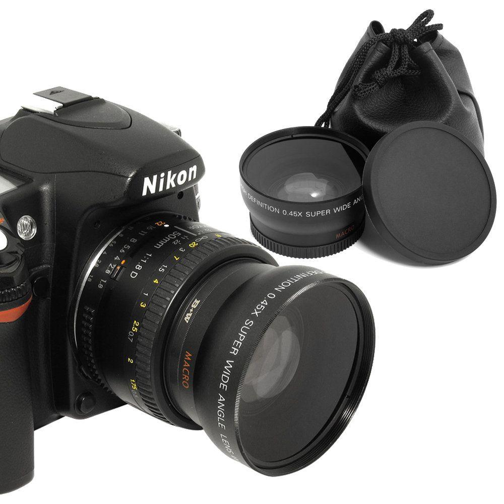 Objectif grand Angle 52 MM 0.45x + objectif Macro pour appareils photo reflex numériques Nikon avec filetage de filtre d'objectif UV 52mm livraison gratuite