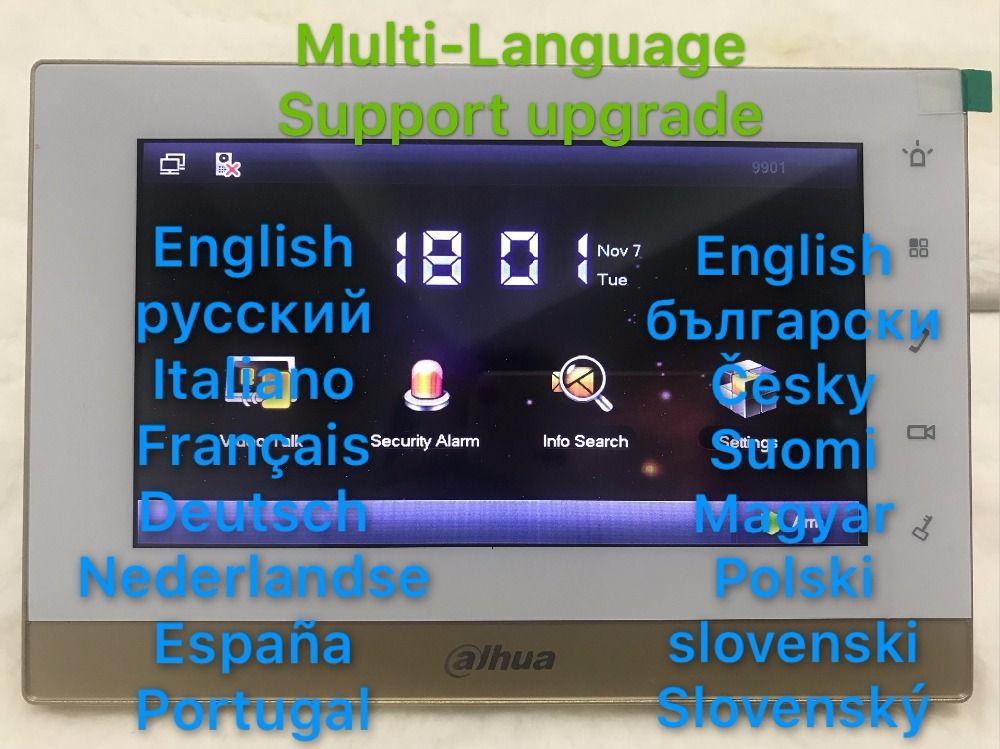 Dahua Многоязычная видеодомофон сенсорный экран Цвет indoor Мониторы vth1550chw