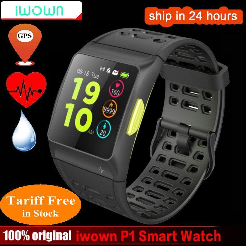 Iwownfit iwown P1 Smart Uhr Herzfrequenz EKG erkennung HRV analyse eingebaute GPS IPS farbdisplay Mehrere sport modi Armband