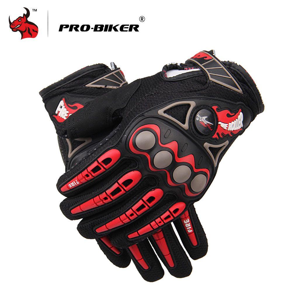 PRO-BIKER Luvas Da Motocicleta Motorcycle Racing Gloves Motocross Off-Road Enduro Full Finger Motorcycle Gloves M L XL 4 Color