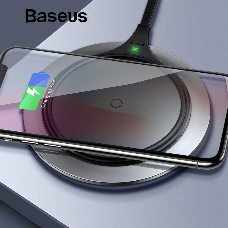 Baseus 10 W Métal Qi Sans Fil Chargeur Pour iPhone Xs Max X 8 Rapide Wireless Recharge Sans Fil Pad pour Samsung s9 S8 Xiaomi de Mélange 3 2 s