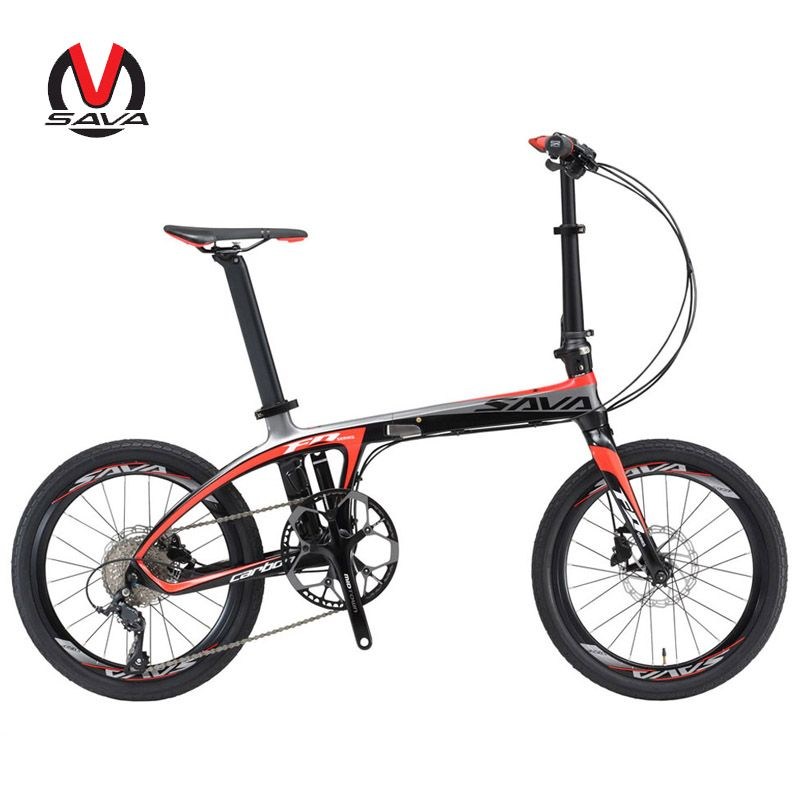 SAVA Faltrad Carbon Klapp fahrrad 20 zoll tragbare bike mit SHIMANO 105 5800 22 Speed Bike Disc Bremse bicicleta plegable
