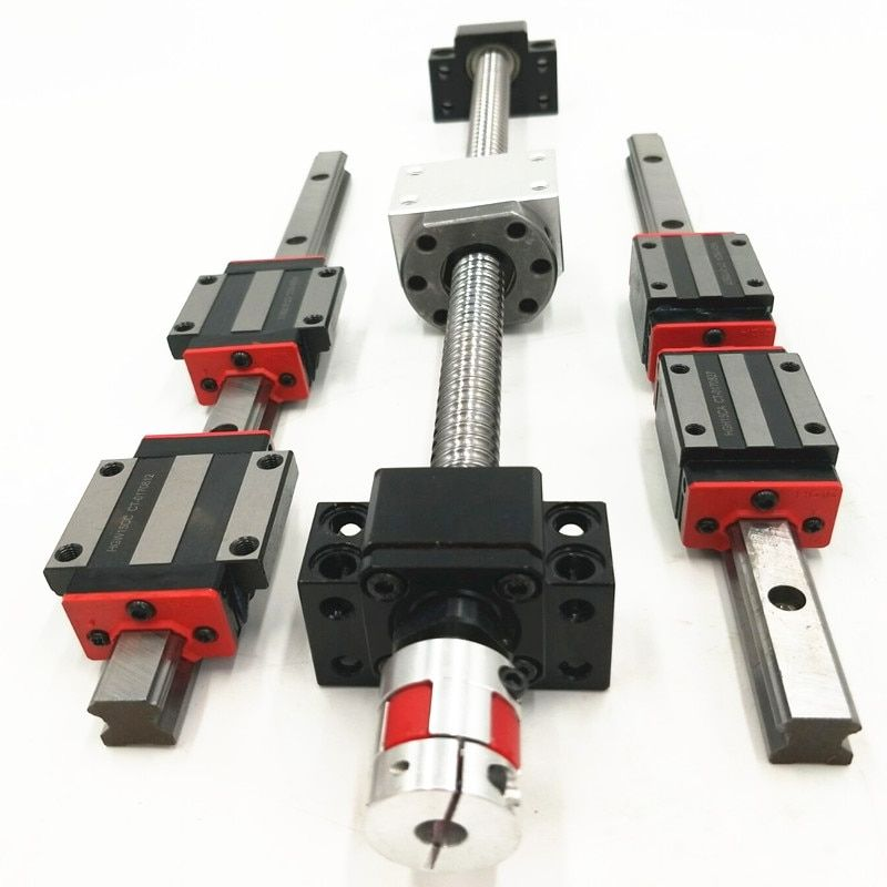 4pcs of ballscrews RM1605/2005-562/1532/1682/1682mm+HB20/25-536/1500/1650mm linear rails+nema 34 motor mount