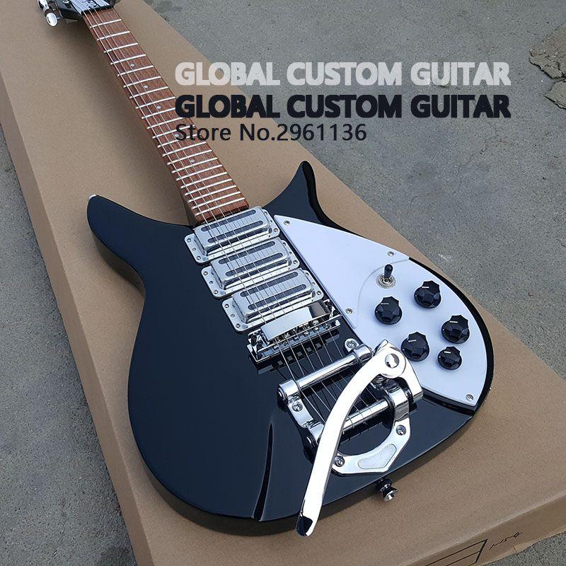 Hohe qualität Drei pickup rickenbacker e-gitarre, Echt fotos, freies verschiffen Werbe aktivitäten
