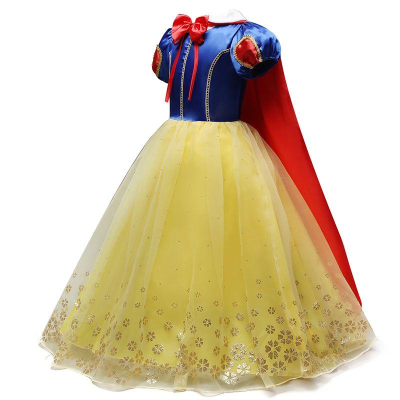 2019 enfants fille neige blanc robe pour filles bal princesse robe enfants bébé cadeaux Intant fête vêtements fantaisie adolescent vêtements