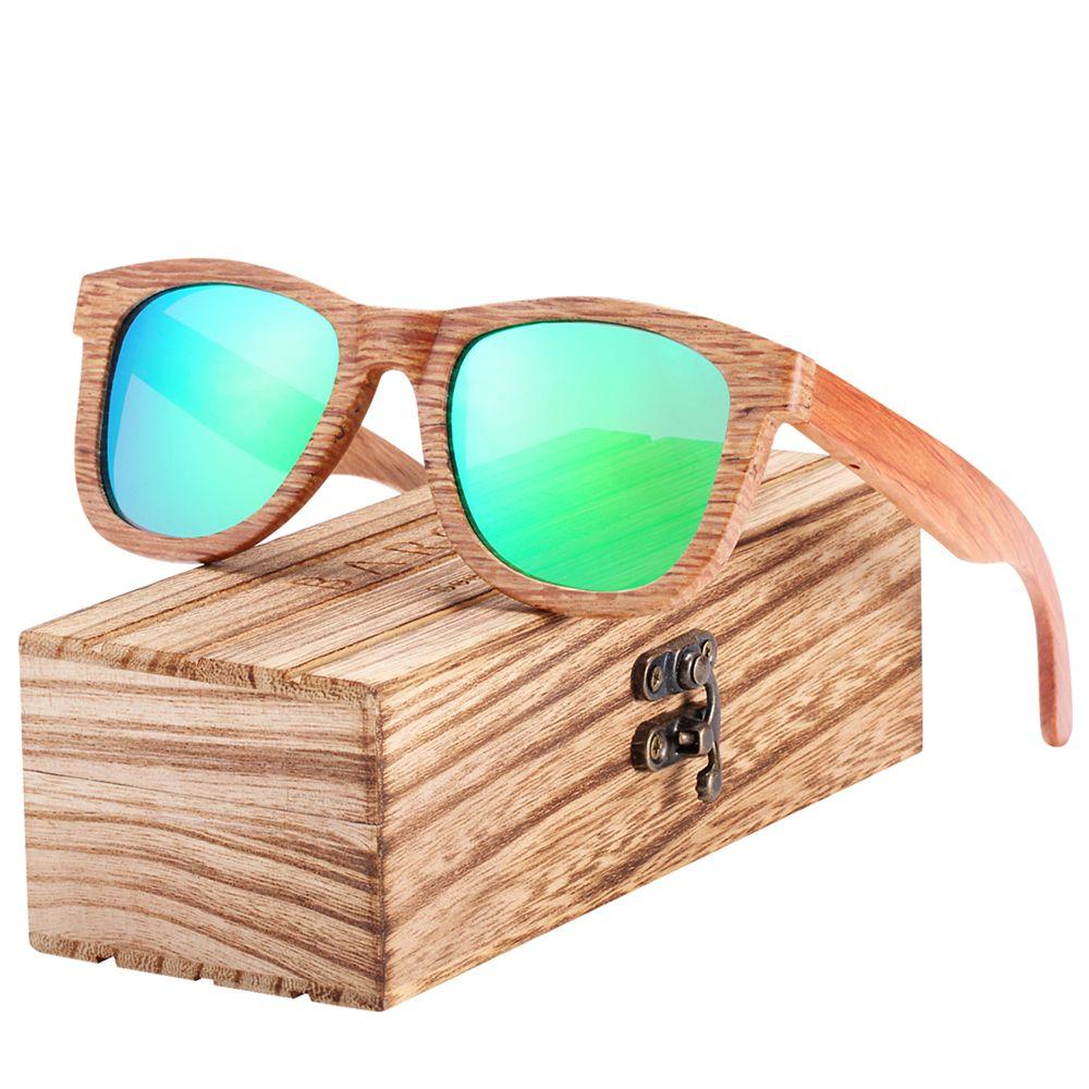 Lunettes de soleil en bois naturel BARCUR hommes lunettes de soleil polarisées femmes lunettes de voyage Vintage oculos de sol