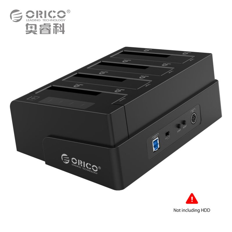 2.5 3.5 Inch USB 3.0 to SATA Hard Drive Docking Station/Duplicator Support MAX 32TB with 12V6.5A Power Adapter (ORICO 6648US3-C)