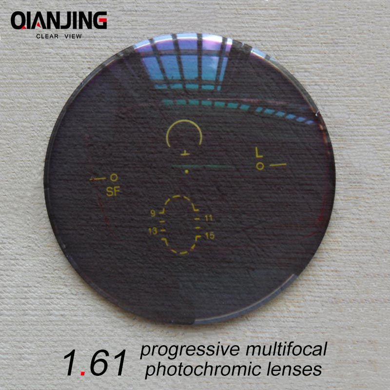 QJ 1.61 Super-Tough Digital Free Form Progressive No-Line Multi-Focal Prescription Customized Optical Lenses With AR Coating