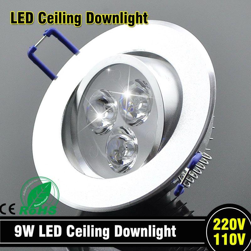 En gros 9 W plafonnier LED épistar plafonnier encastré Spot lumière AC85-265v pour éclairage domestique LED ampoule