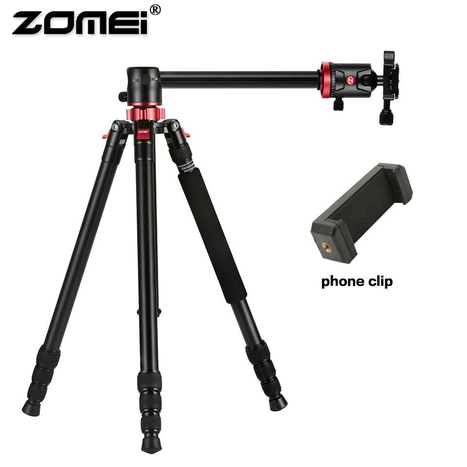 ZOMEI Reise Kamera Stativ M8 Aluminium Einbeinstativ Professionelle Stativ Flexible mit Telefon Halter für Live-übertragung DSLR Canon Sony