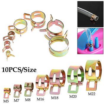 10 Pcs 5-22mm Printemps Clip Conduite de Carburant Tuyau D'eau Tuyau D'air Tube Pinces Fixation