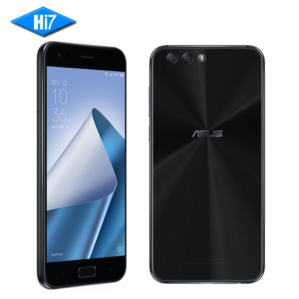 Asus Zenfone 4 ZE554KL Smartphone 4GB RAM 64GB ROM Android 7.1.1 5.5'' Dual Back Cameras 3300mAh Octa core 12.1MP Mobile Phone
