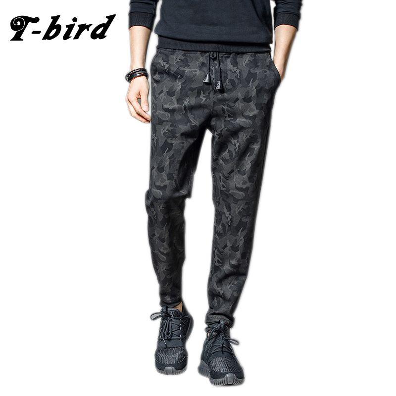 T-Bird 2018 Joggers Pants Men Streetwear Camouflage Pants <font><b>pantalon</b></font> homme Hip Hop Men Joggers Sweatpants High Quality Male Pants