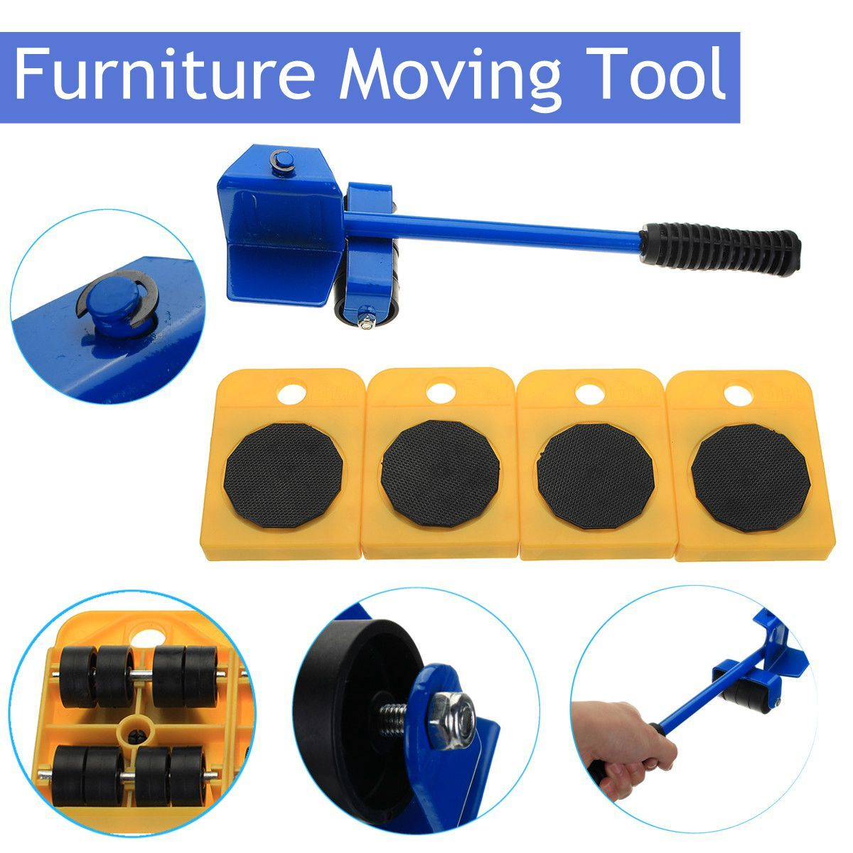 Durable Furniture Moving System With Lifter Tool And Furniture Moving Heavy Stuffs Moving Tool Home Utilities