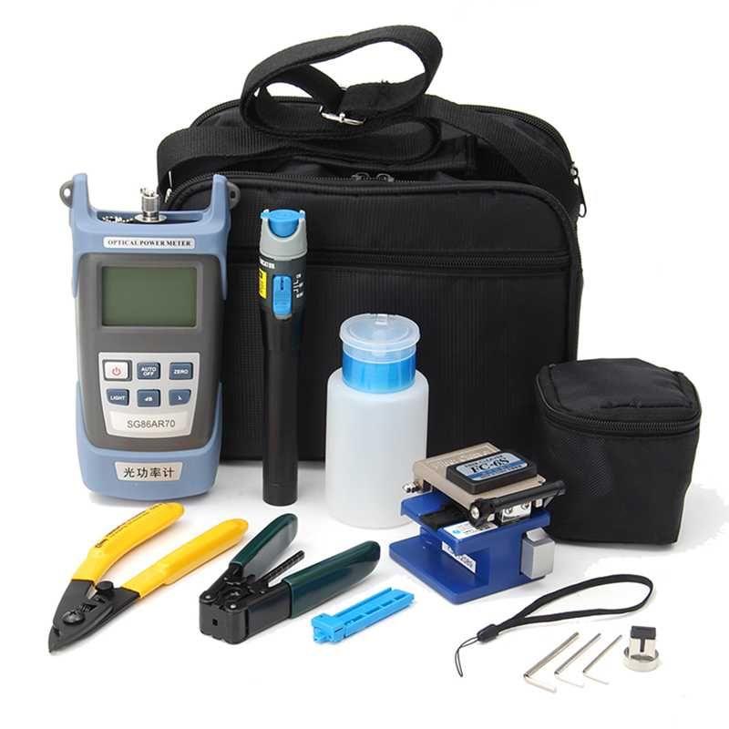 Für FC-6S Faser Ftth Tool Kit Faser und AUA-60S Faser-spalter Optische Power Meter3-5KM Visuelle Finder Locator abisolierzange