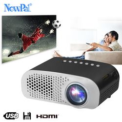 Newpal LED Projector GP802A Home Beamer for Kids 1920*1080P HD Mini Projector Support SD HDMI USB
