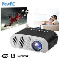 Newpal LED Proyektor GP802A Rumah Beamer untuk Anak-anak 1920*1080 P HD Mini Proyektor Mendukung SD HDMI USB