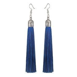 LOVBEAFAS брендовые серьги с кисточками женские модные ювелирные изделия богемные длинные сережки шелковые ткани этнические Винтажные серьги