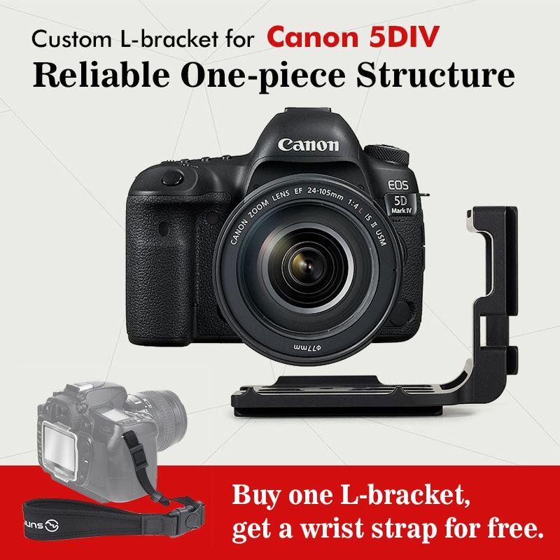 SUNWAYFOTO PCL-5DIV Custom L Plate Bracket for Canon 5DIV 5D4 5D Mark IV Camera Arca, Really Right Stuff, Benro compatible