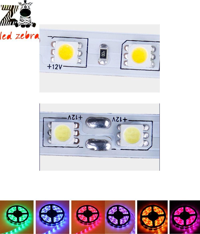5m 5050smd blue/green/red/ rgb/white/warm white led strip,60led/m ip30 non waterproof dc 12v