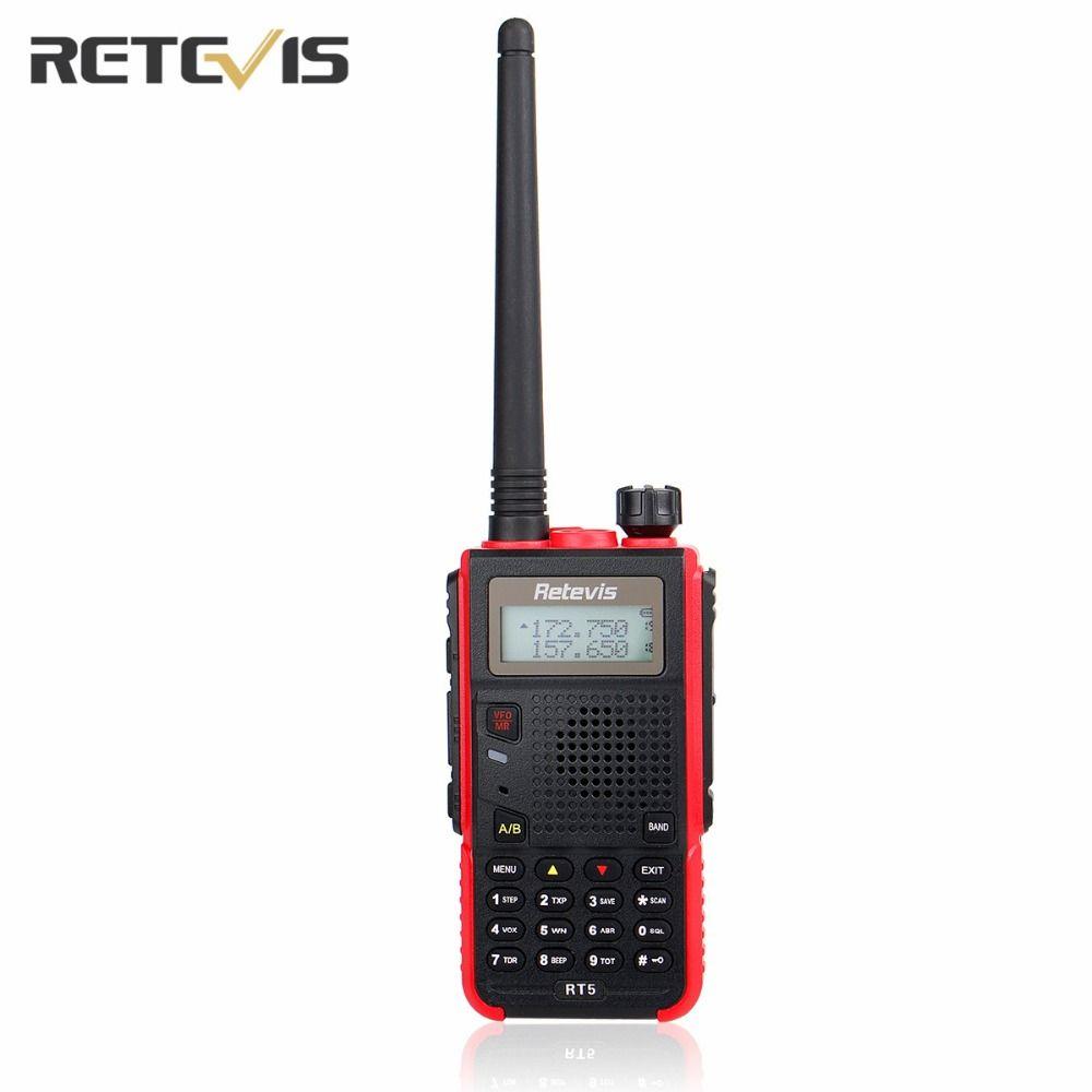 Durable Talkie Walkie Retevis RT5 Double Bande VHF/UHF Mains Libres Mobile Amateur Radio Portable Ham Two Way Radio Émetteur-Récepteur