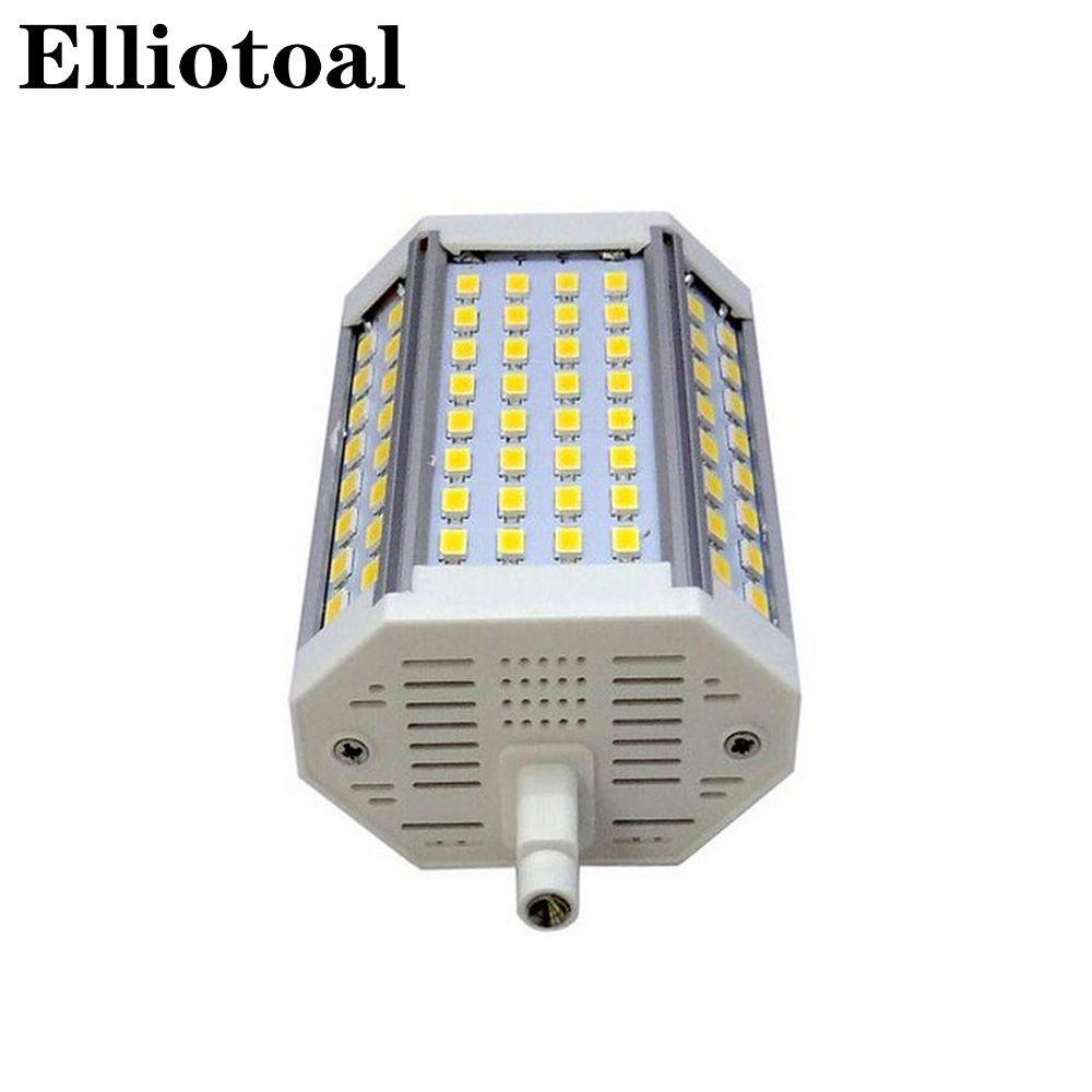 Dimmable LED R7S 30 W 118 MM Dimmable lampe à LED J118 R7S ampoule smd5730 pas de ventilateur remplacer lampe halogène blanc chaud blanc froid