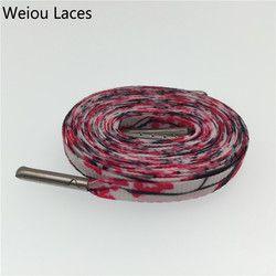 Weiou Sutra Layar Pencetakan Datar Plum Blossom Desainer Disublimasikan Tali Sepatu Sepatu Tenis Sepatu Renda Polyester String 54