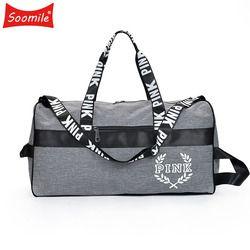 Soomile nueva venta caliente bolsa de lona viajes moda mujeres hombres bolsos de negocios Victoria playa hombro grande secreto capacidad