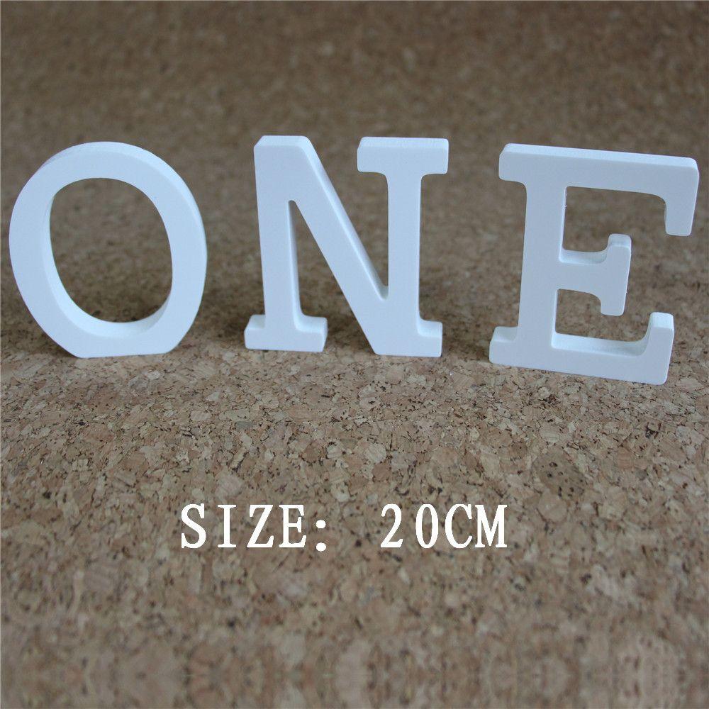 Date A-Z & 0-9 bois bois blanc lettres Alphabet mot 20 cm libre debout fête d'anniversaire maison mariage décoration cadeaux
