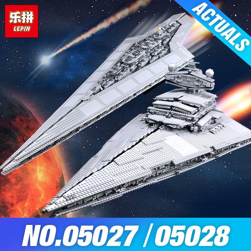 LEPIN 05027 Star Plan 05028 Emperor fighters starship Model Building 10221 Destroyer compatible 10030 Wars Blocks Bricks Gifts