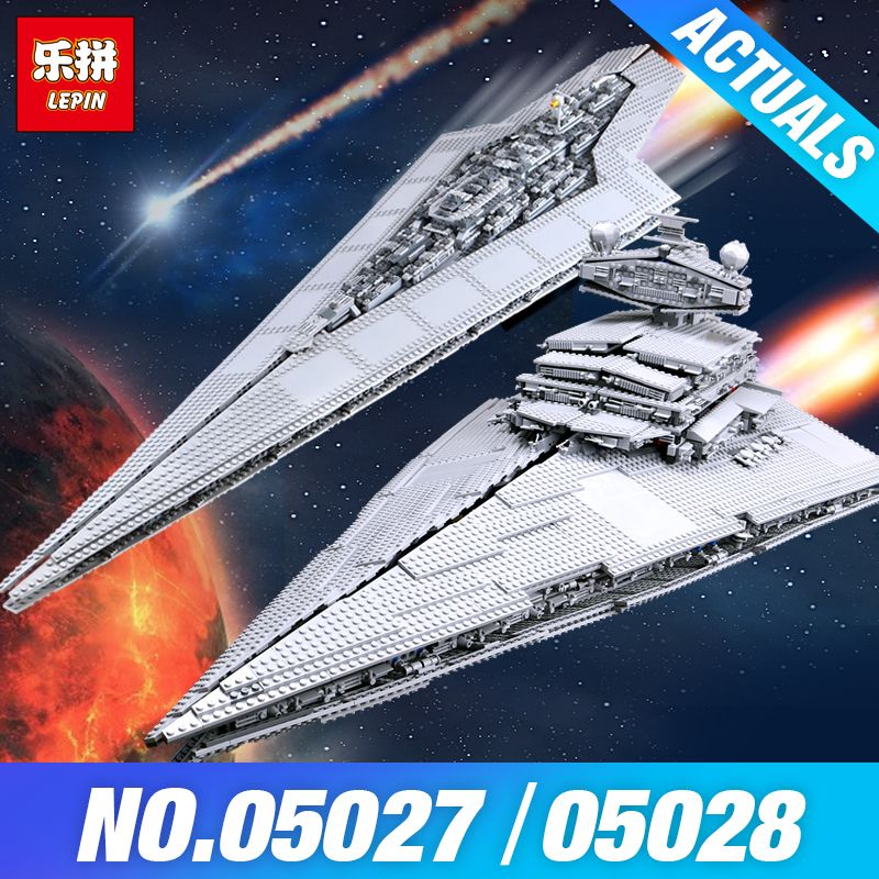 LEPIN 05027 Star-Wars 05028 Emperor fighters starship Model Building 10221 Destroyer Blocks Bricks Gifts compatible 10030 Toys