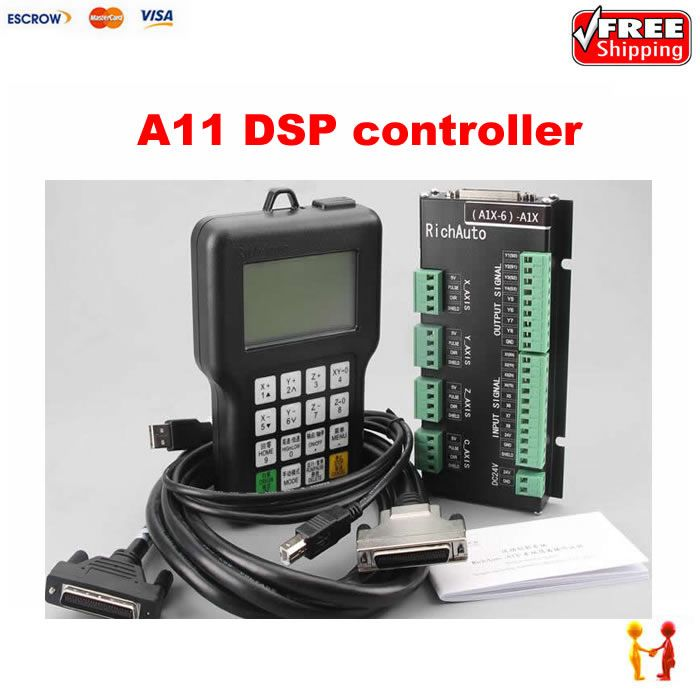A11S A11E 3 axis RichAuto A11 CNC DSP controller,replace DSP 0501 controller for cnc router DSP system