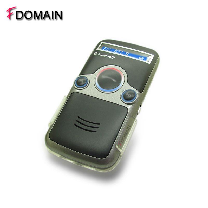 FDOMAIN auto wireless solar Bluetooth handsfree car kit speakerphone built-in FM transmitter modulator function phone MP3 player