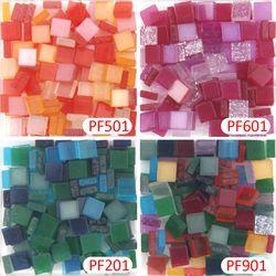 800 Buah/Bungkus Campuran Transparan 5 Mm Acrylic Mosaik DIY Hobi Kerajinan Bahan Aksesoris Kecil Mini Resin Mosaik Ubin untuk Hobi