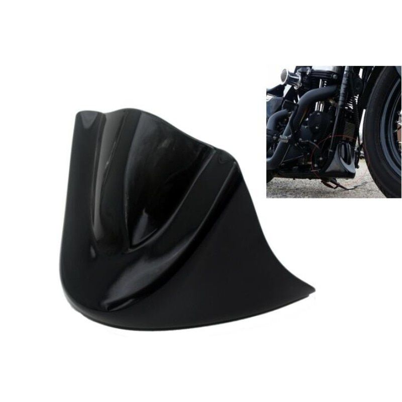Gloss Black Motorcycle Lower Front Chin Spoiler Air Dam Fairing Cover for Harley 06-Up Dyna Models