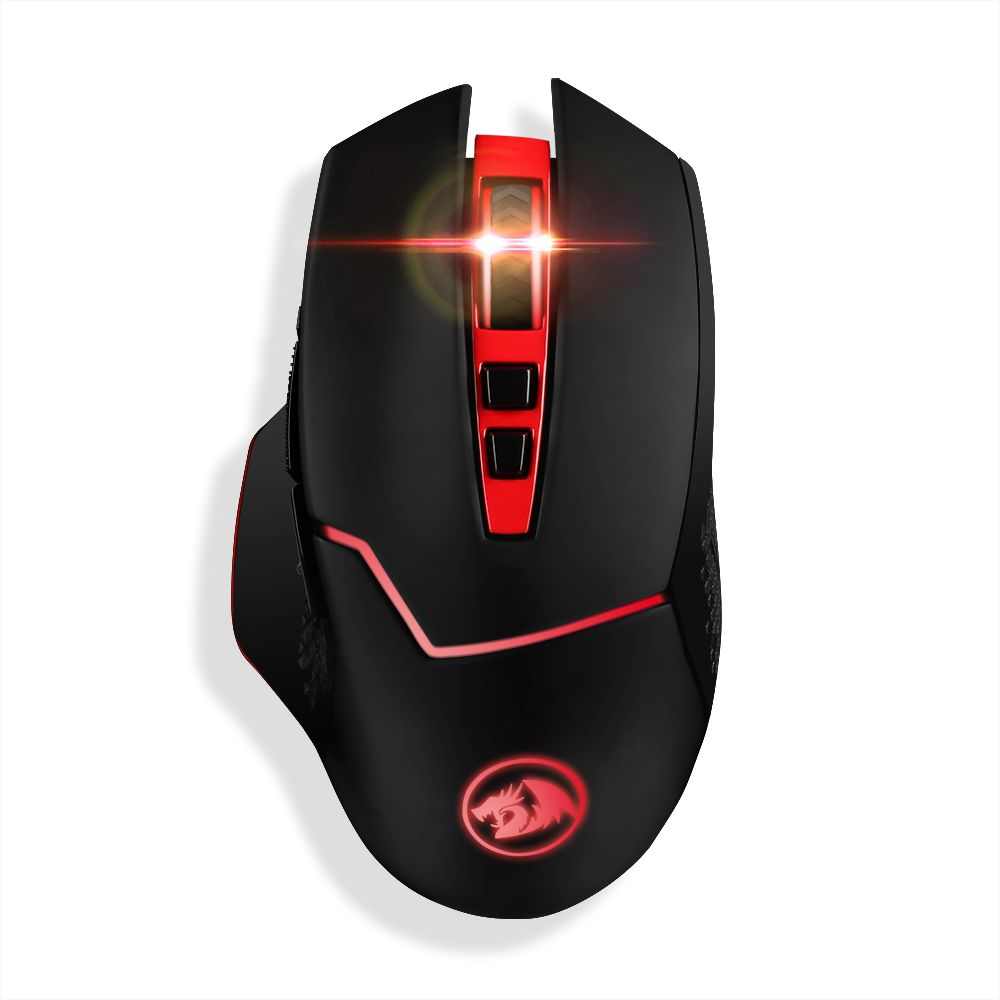 Redragon M690 4800DPI Professional Wireless Gaming Mouse 7 Programmable Buttons Mice for MMO Pro Gamers PC Computer Laptop