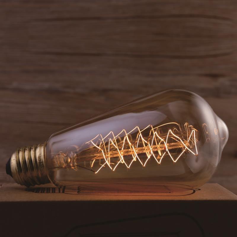 Лампа накаливания ST64 Винтаж EDISON ЛАМПЫ Ретро лампа ST64 40 Вт лампада edison лампы E27 220 В лампы для подвесной светильник