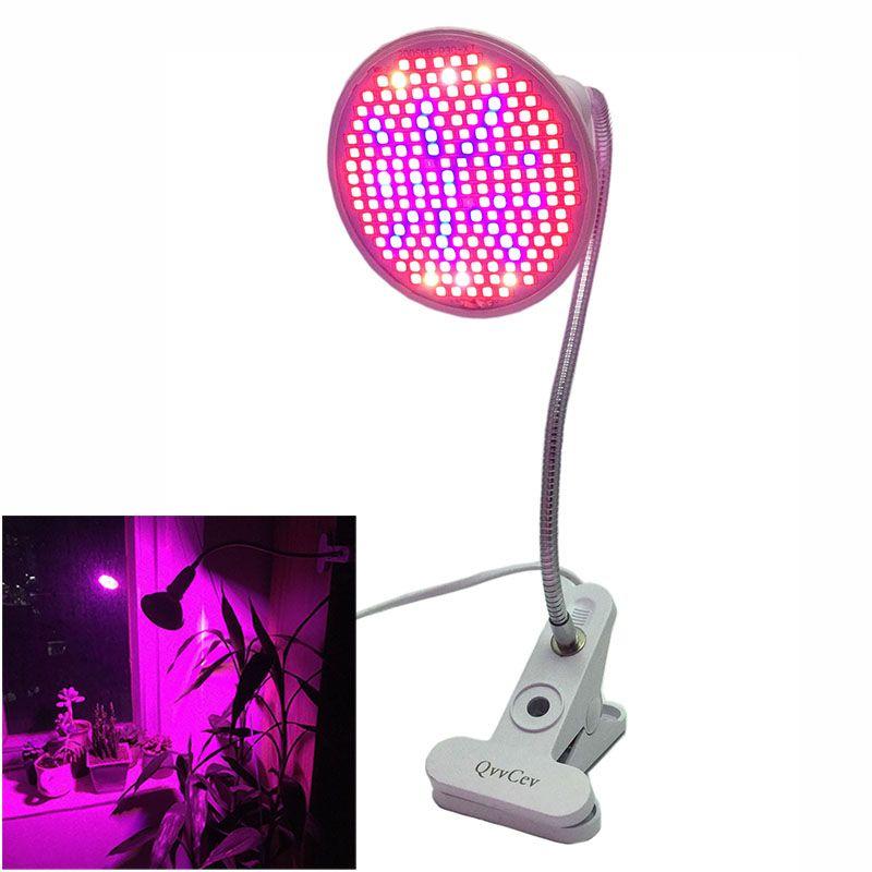 2018 NEW 200 LED Plant Grow Light Lamp Lights gooseneck clip holder UV IR Full spectrum growth Bulbs for Flower Veg Indoor E27