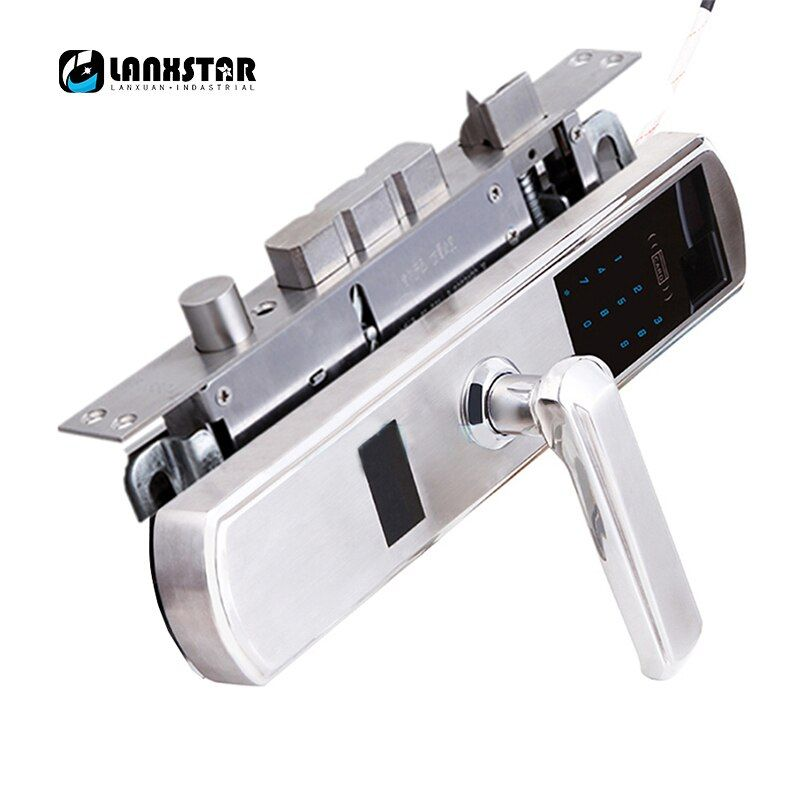 304 stahl Über C Lockcore Medium Typ Lockbody Fingerabdruck Passwort Intelligente Karte Mechanischen Tastensperre 5 in 1 Anti-diebstahl-sperre