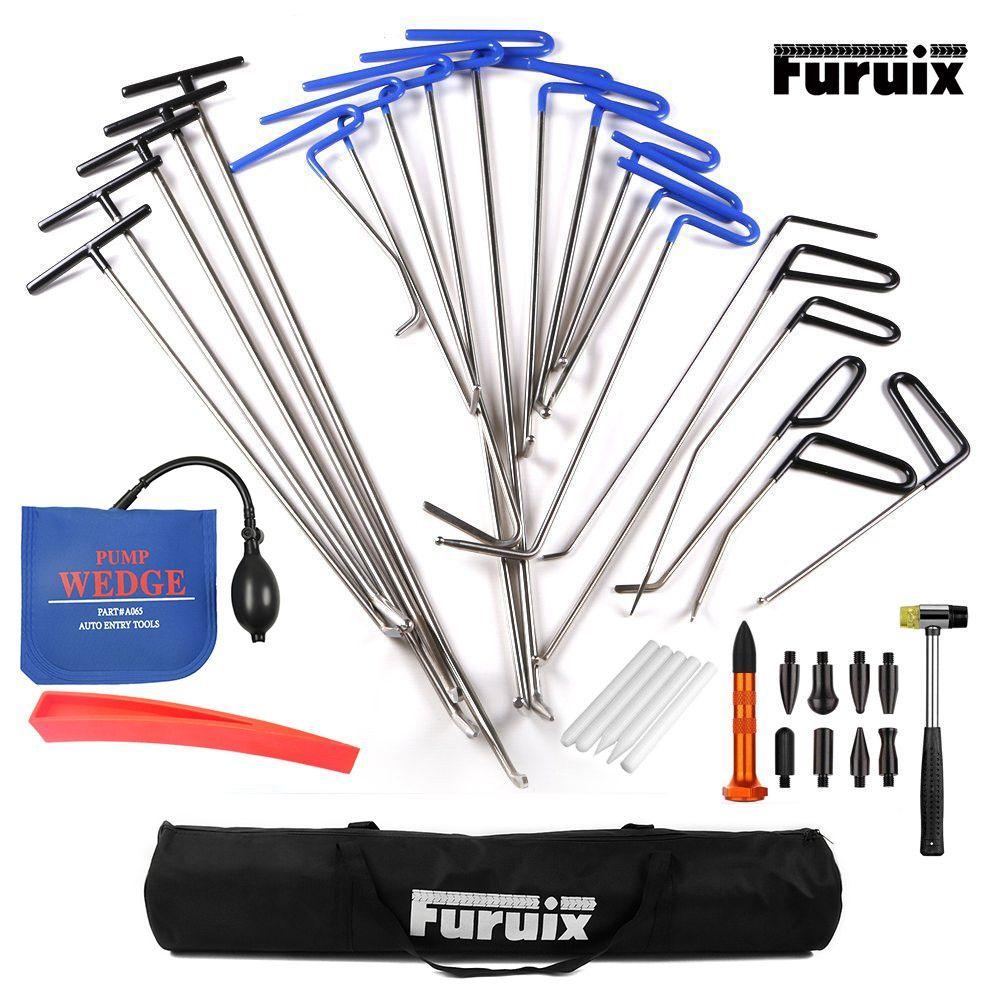Dent Repair pump wedge Tools Rubber Hammer Tap Down Pen Dent Hail Removal Repair Tools - PDR Hook Tools Push Rod PDR