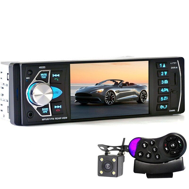 4022D 4.1'' Car Mp3 MP5 DVD Player Bluetooth Car Loudspeaker Fm Transmitter SD/USB/TV Audio Remote Control With Rear View Camera