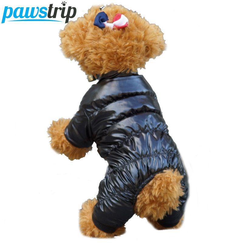 Einfarbig Winter Hundebekleidung Weiches Fleece Futter Warm Puppy Overall Mantel Größe 8-18