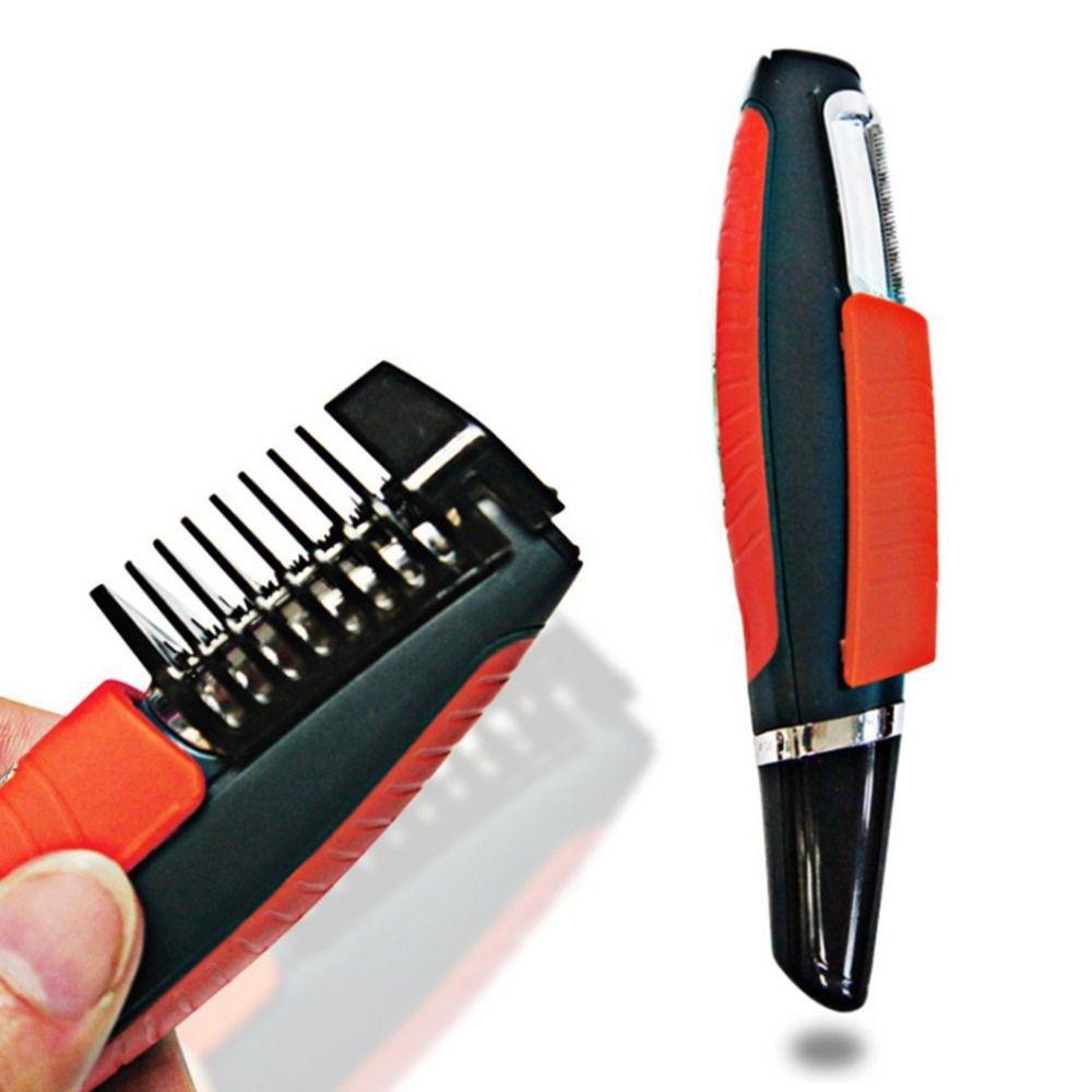 Mâle Switchblade Rasoir Toilettage Remover Tondeuse 2 dans 1 Moustache Barbe Sourcils Tondeuse Rasoir Cheveux Remover Set