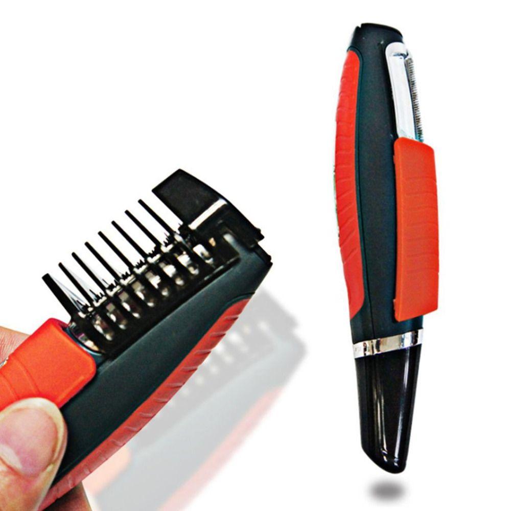 Mâle Switchblade rasoir toilettage décapant cheveux tondeuse 2 en 1 moustache barbe sourcils cheveux tondeuse rasoir cheveux dissolvant ensemble