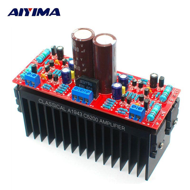 AIYIMA Tube Amplifiers Audio Board DIY Kits A1943/C5200 Dual AC12-28V High Power Amplifier Board Stereo HIFI Tube Fever Level