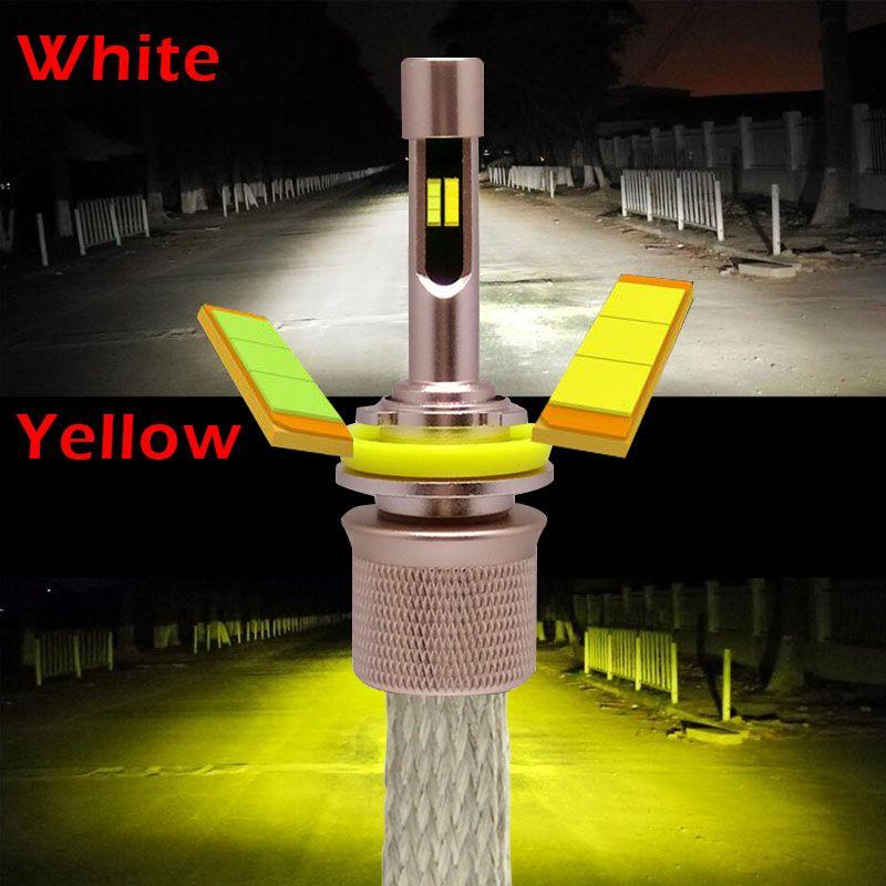 Yellow White 3000K 6000K 9600lumens 4800Lm*2 Lumiled Chips Car LED Headlight Kit H1 H3 H4 H7 H9 H11 9004 HB1 9005 HB3 9006 HB4